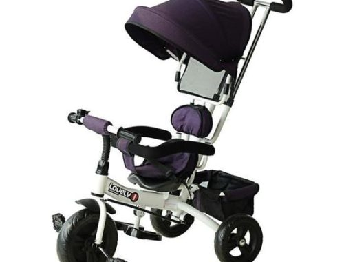 homcom tricycle enfant evolutif poussette pare sol 500x380 - Le Tricycle évolutif